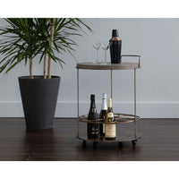 Rowe Bar Cart, Concrete - Furniture - Dining - High Fashion Home