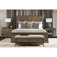 Rustic Patina Panel Bed, Peppercorn - Modern Furniture - Beds - High Fashion Home