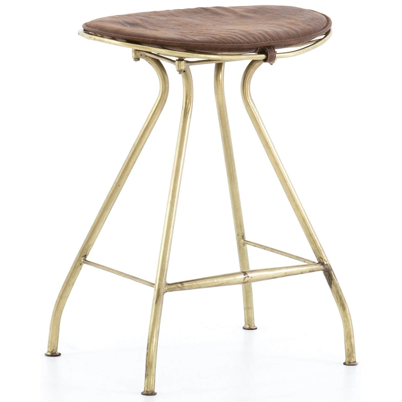 Ryder Counter Stool Antique Brass High Fashion Home