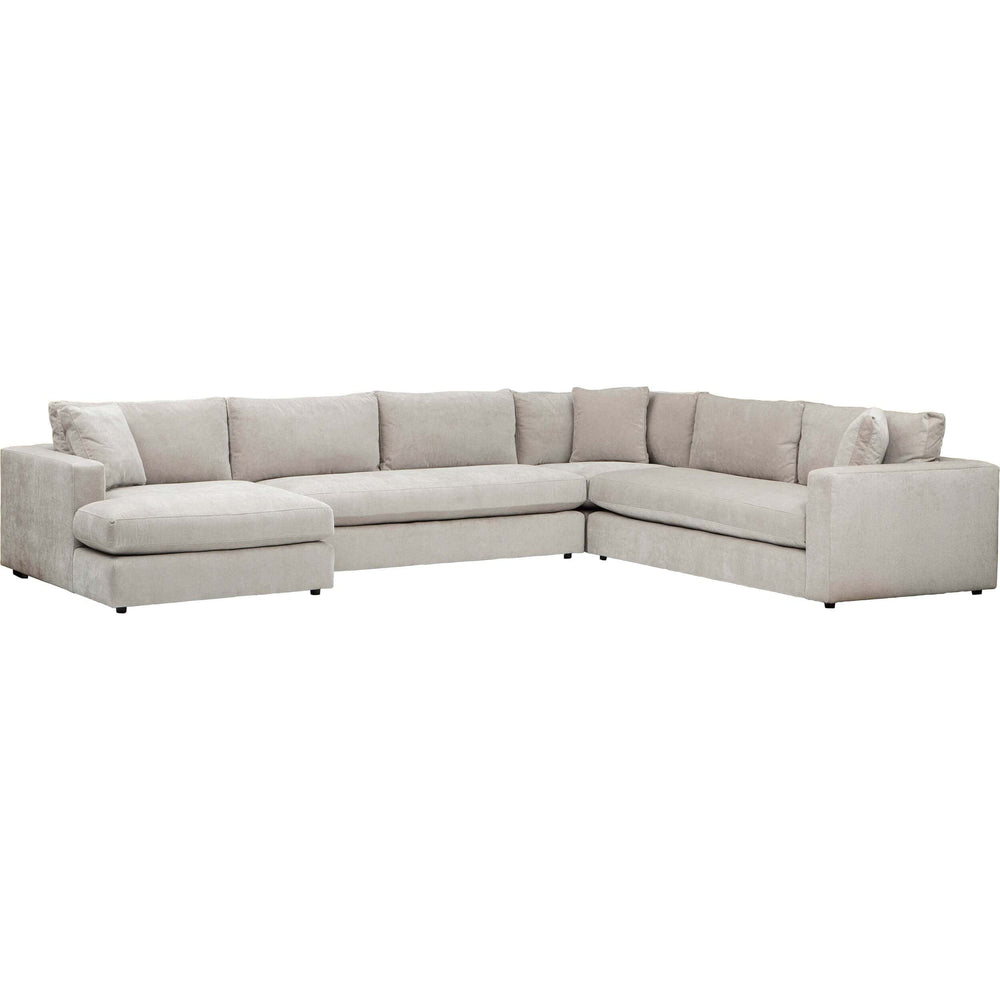 Salvadore Sectional, Kenley Moondust - Modern Furniture - Sectionals - High Fashion Home
