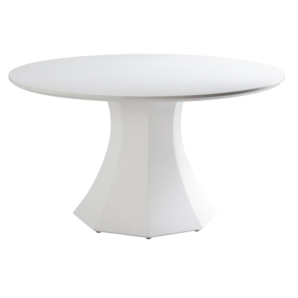 "Sanara Dining Table 55"", High Gloss White - Modern Furniture - Dining Table - High Fashion Home"