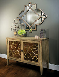 Sanctuary Two Door Mirrored Console - Furniture - Storage - High Fashion Home