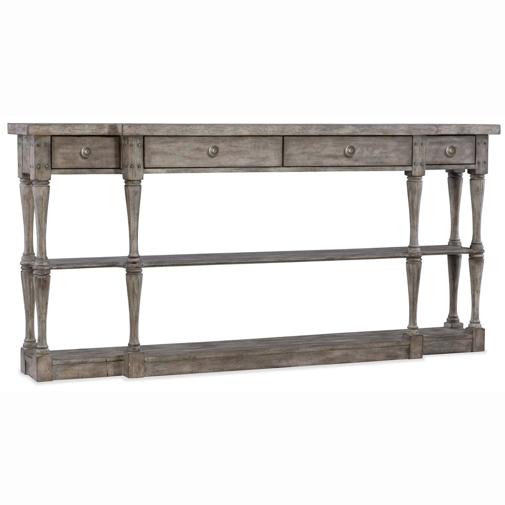 Sanctuary Four Drawer Console, Grey - Furniture - Storage - High Fashion Home