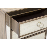 Sanctuary Three Drawer Nightstand - Furniture - Bedroom - Nightstands