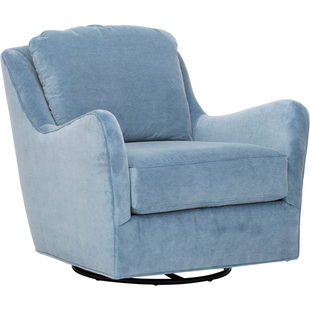 Savannah Swivel Glider, Lulu Denim - Furniture - Chairs - Recliners, Swivel, Gliders