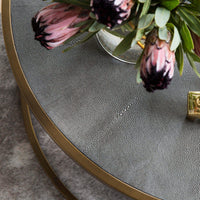 Shagreen Nesting Coffee Table, Brass - Modern Furniture - Coffee Tables - High Fashion Home
