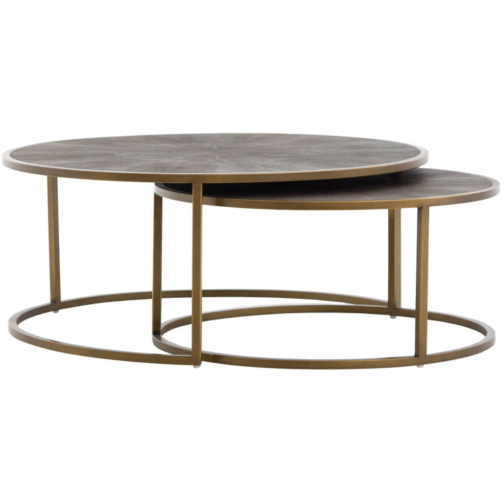 Shagreen Nesting Coffee Table, Brass - Furniture - Accent Tables - Coffee Tables