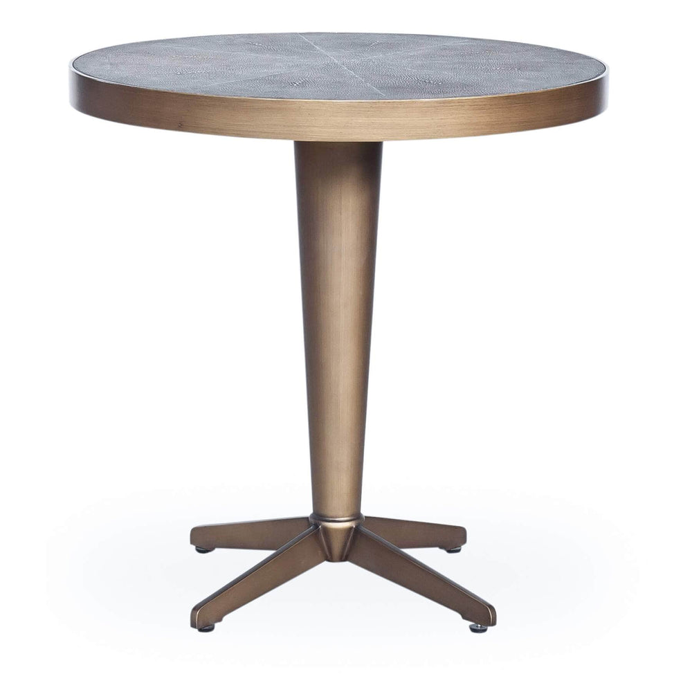 Shagreen Side Table, Brass - Furniture - Accent Tables - End Tables