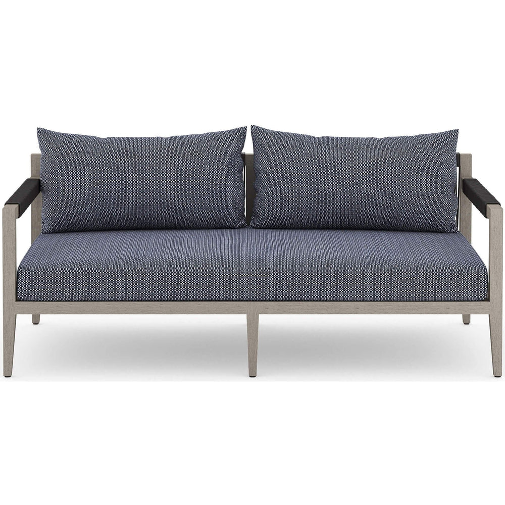 Sherwood Outdoor Sofa, Faye Navy/Weathered Grey - Furniture - Sofas - High Fashion Home
