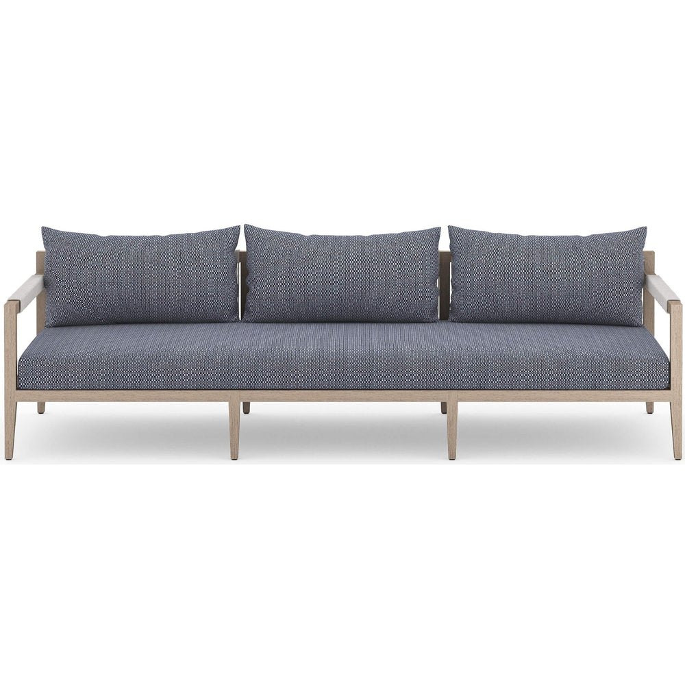 Sherwood Outdoor Sofa, Faye Navy/Washed Brown