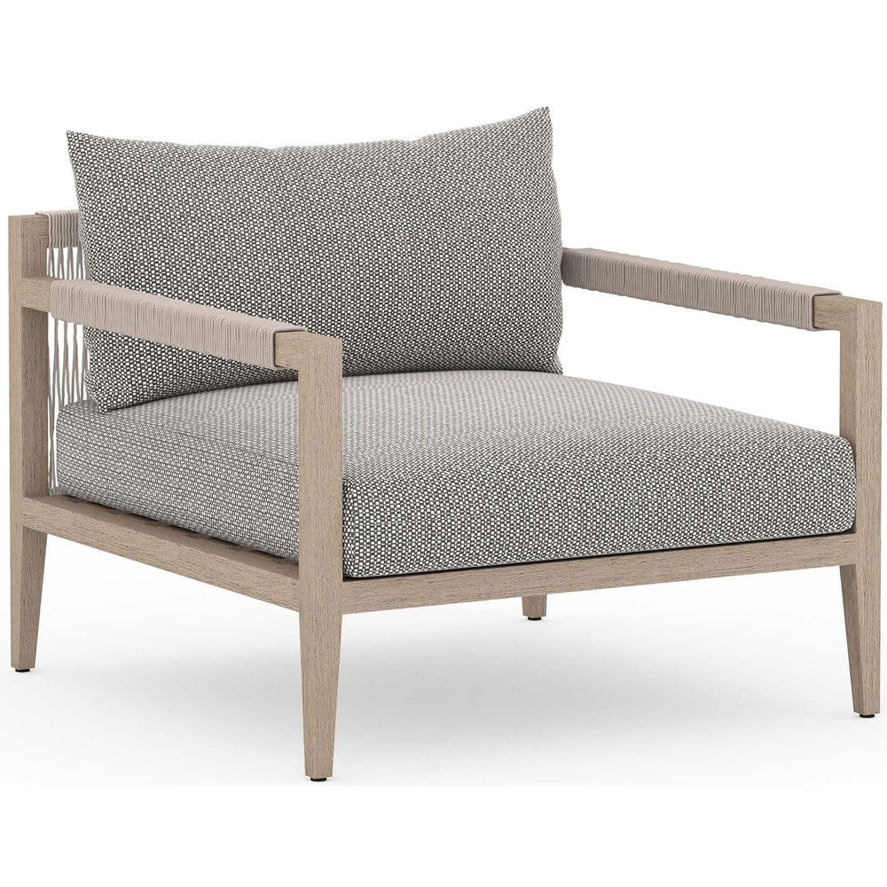 Sherwood Outdoor Chair, Faye Ash/Washed Brown - Modern Furniture - Accent Chairs - High Fashion Home