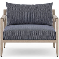 Sherwood Outdoor Chair, Faye Navy/Washed Brown - Furniture - Chairs - High Fashion Home