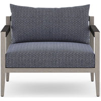 Sherwood Outdoor Chair, Faye Navy/Weatherd Grey - Furniture - Chairs - High Fashion Home