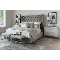 Simone Bed, Brussels Charcoal - Modern Furniture - Beds - High Fashion Home