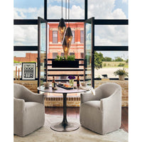 Simone Bistro Table, Antique Rust - Modern Furniture - Dining Table - High Fashion Home