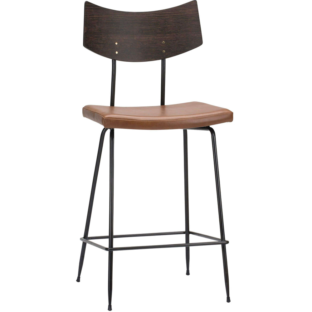 Soli Counter Stool, Caramel - Furniture - Dining - High Fashion Home