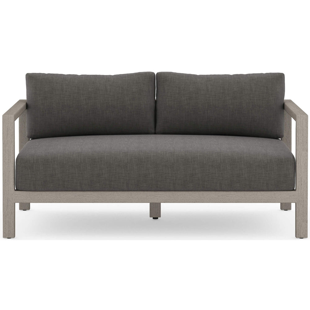 Sonoma Outdoor Sofa, Charcoal/Weathered Grey
