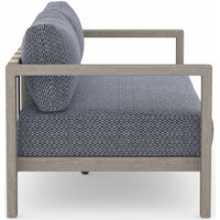Sonoma Outdoor Sofa, Faye Navy/Weathered Grey - Furniture - Sofas - High Fashion Home