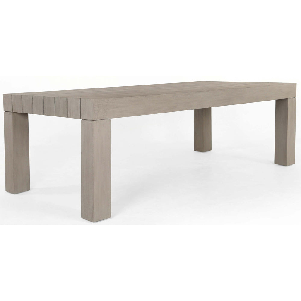 Sonora Outdoor Dining Table, Weathered Grey