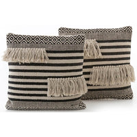 Split Fringe Pillow (Set of 2) - Accessories - High Fashion Home