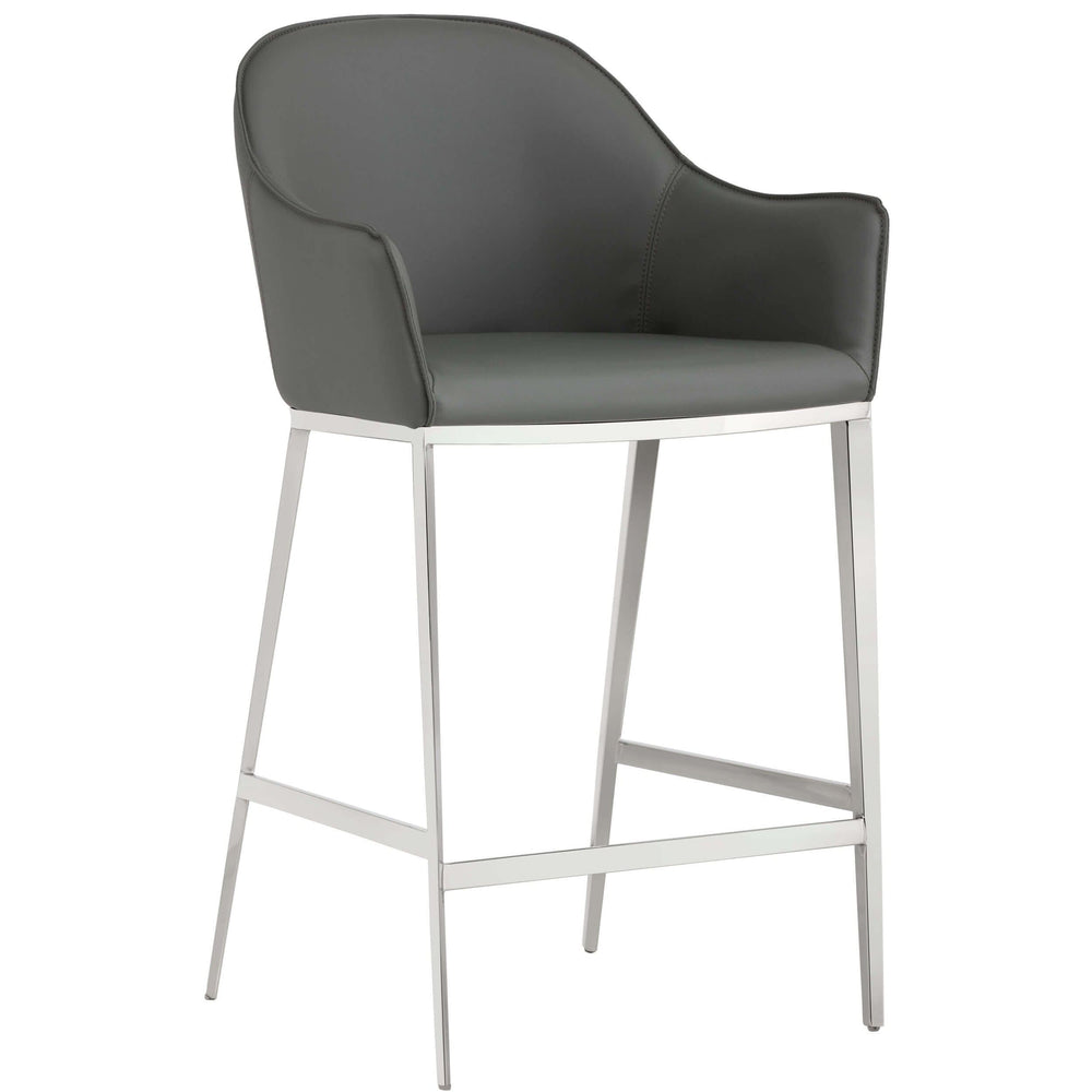 Stanis Counter Stool, Grey - Furniture - Dining - High Fashion Home