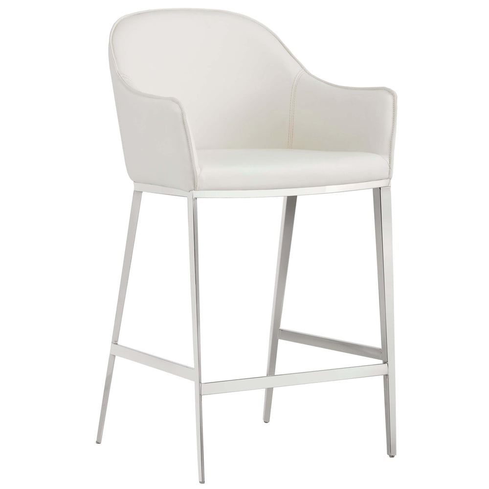 Stanis Counter Stool, White - Furniture - Dining - High Fashion Home