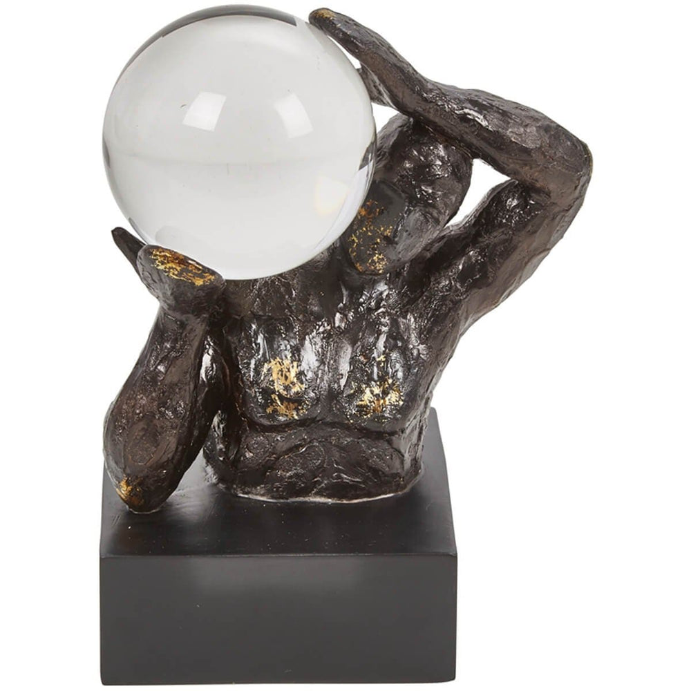 Statue with Crystal Ball - Accessories - High Fashion Home