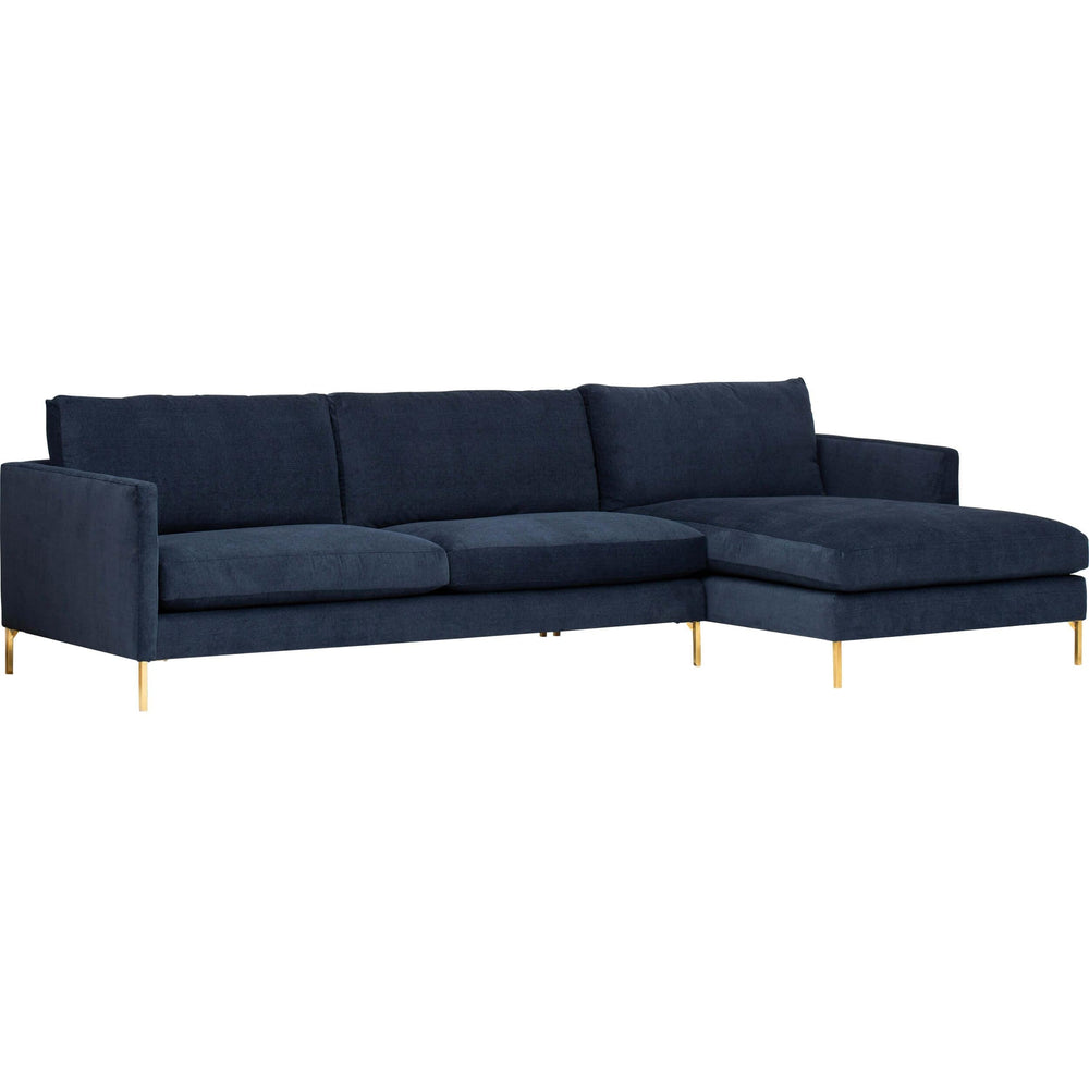 Stella Sectional, Vida Navy - Modern Furniture - Sectionals - High Fashion Home