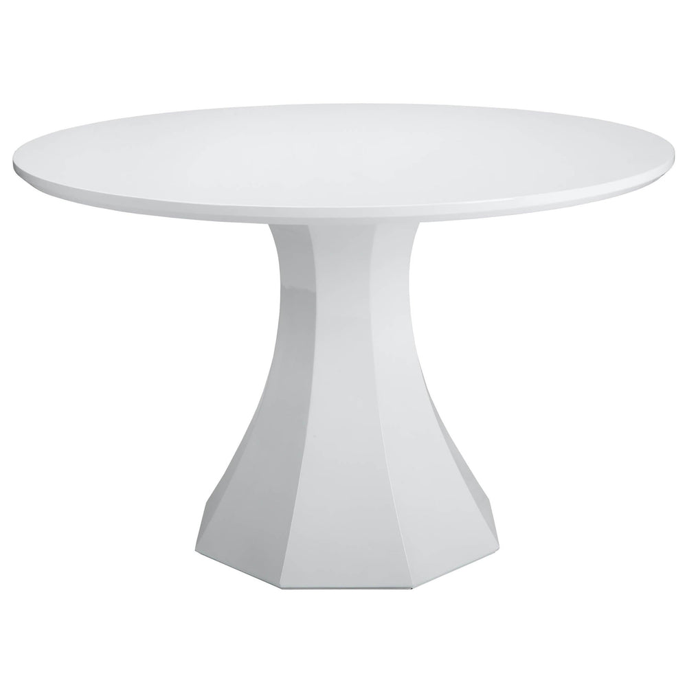 "Sanara Dining Table 48"", High Gloss White - Furniture - Dining - Dining Tables"