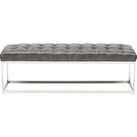Sutton Bench, Grey - Furniture - Chaises & Benches