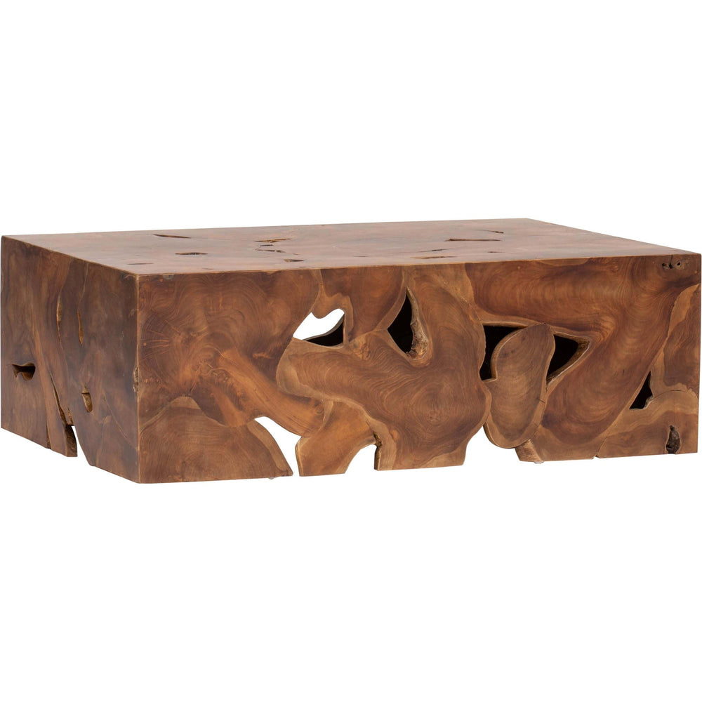 Teak Block Coffee Table - Modern Furniture - Coffee Tables - High Fashion Home