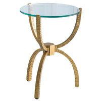 Teton Accent Table, Gold - Furniture - Accent Tables - End Tables