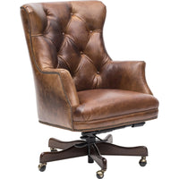 Theodore Executive Leather Office Chair - Furniture - Chairs - High Fashion Home