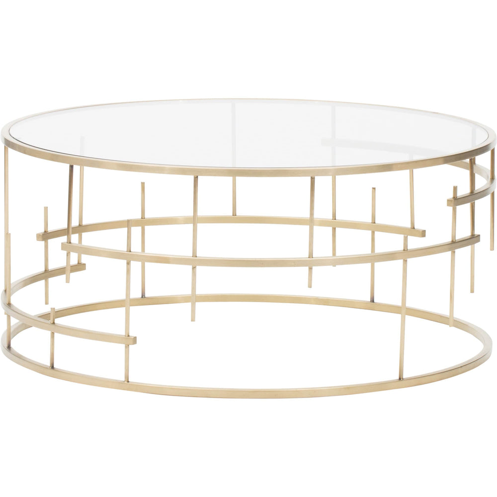 Tiffany Coffee Table, Gold - Furniture - Accent Tables - Coffee Tables