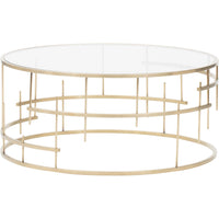 Tiffany Coffee Table, Gold - Modern Furniture - Coffee Tables - High Fashion Home