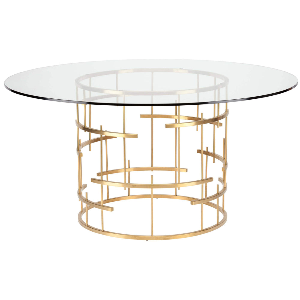 Tiffany Dining Table, Gold - Furniture - Nuevo Living