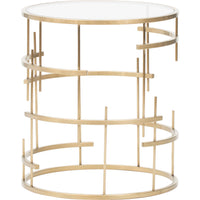 Tiffany Side Table, Gold - Furniture - Accent Tables - End Tables