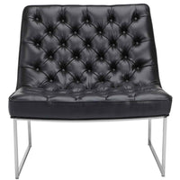Toro Leather Chair, Nobility Black - Modern Furniture - Accent Chairs - High Fashion Home