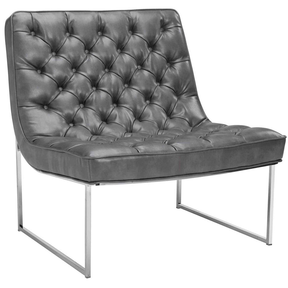 Toro Leather Chair, Nobility Grey - Modern Furniture - Accent Chairs - High Fashion Home