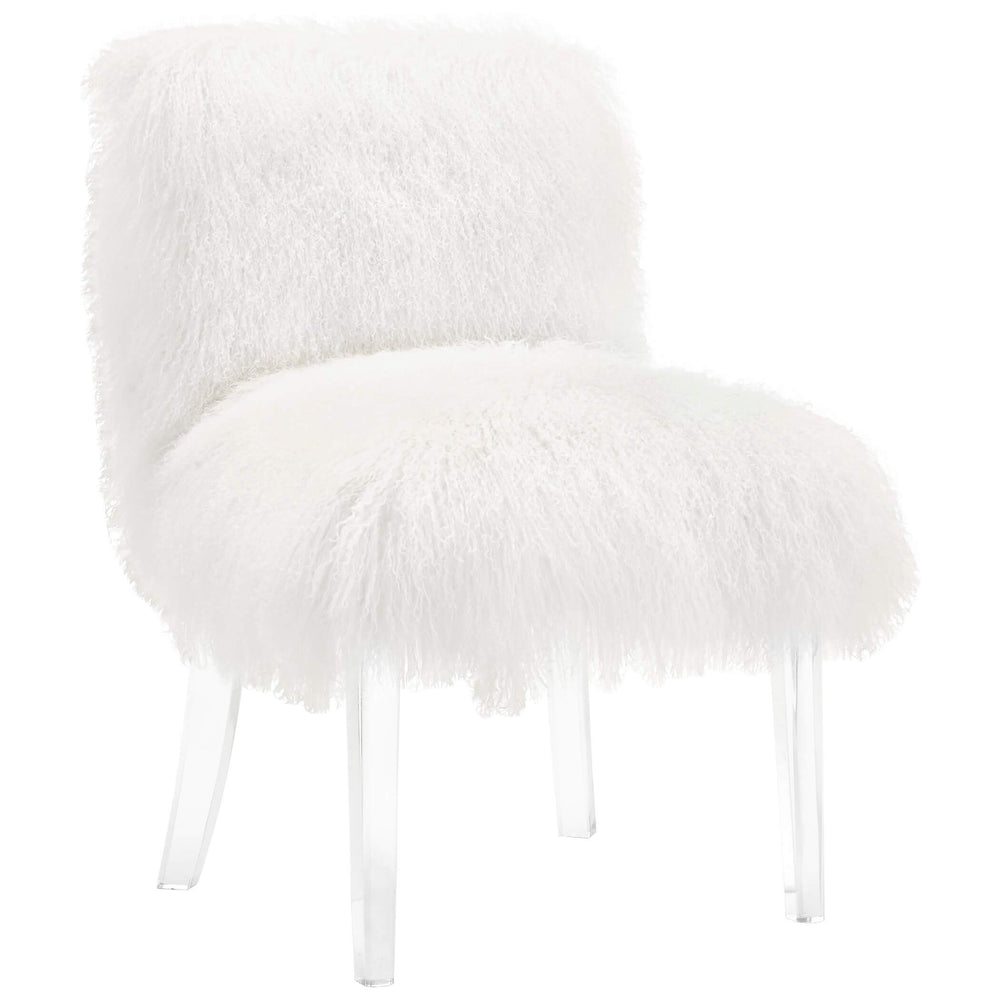 Sophie Sheepskin Chair, White - Furniture - Chairs - Fabric