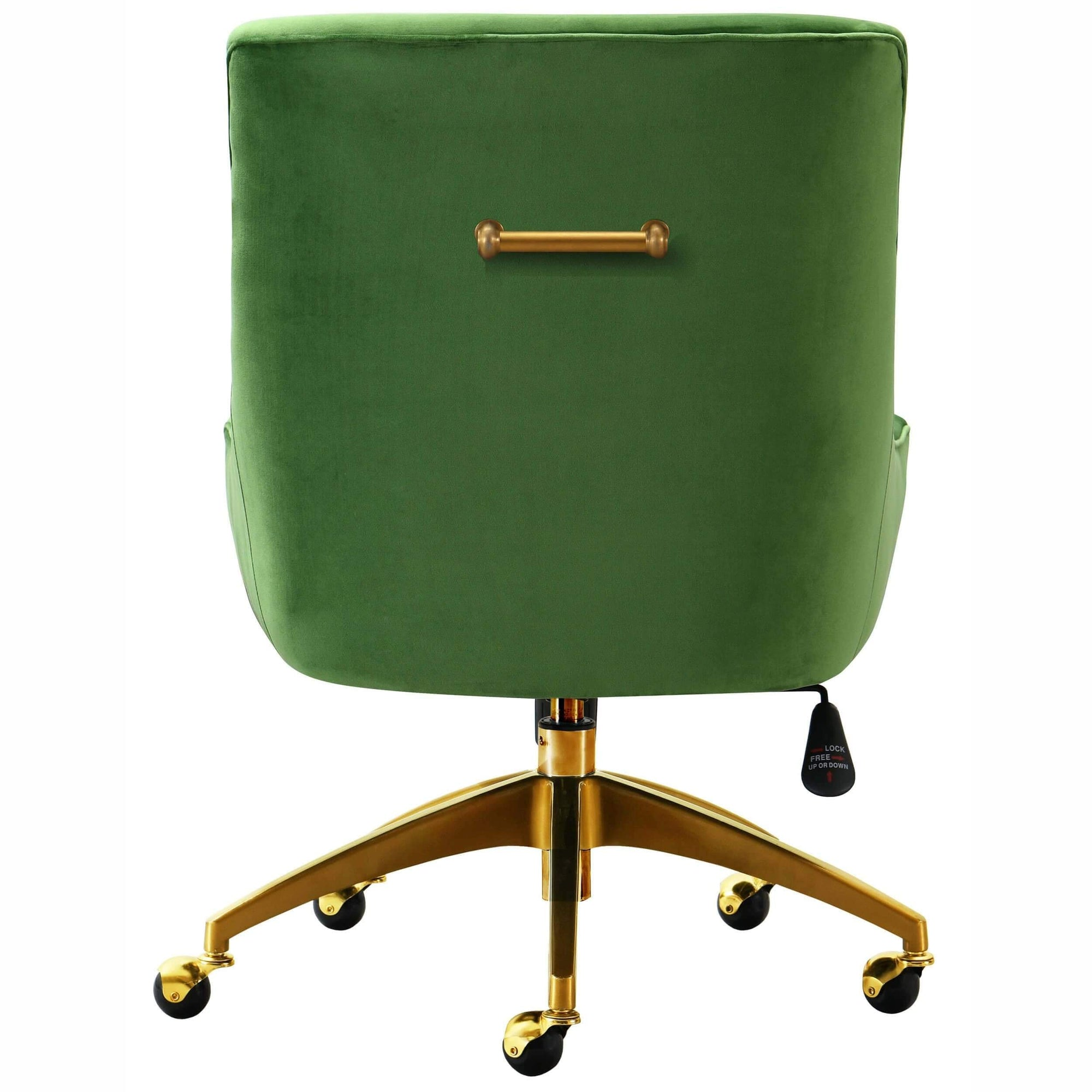 Beatrix Swivel Office Chair Green High Fashion Home