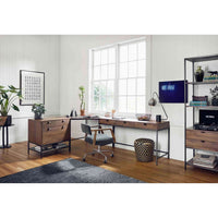 Trey Modular Writing Desk, Auburn Poplar - Furniture - Office - High Fashion Home