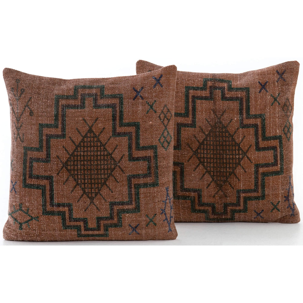 Tribal Print Pillow, Rust (Set of 2) - Accessories - What's New