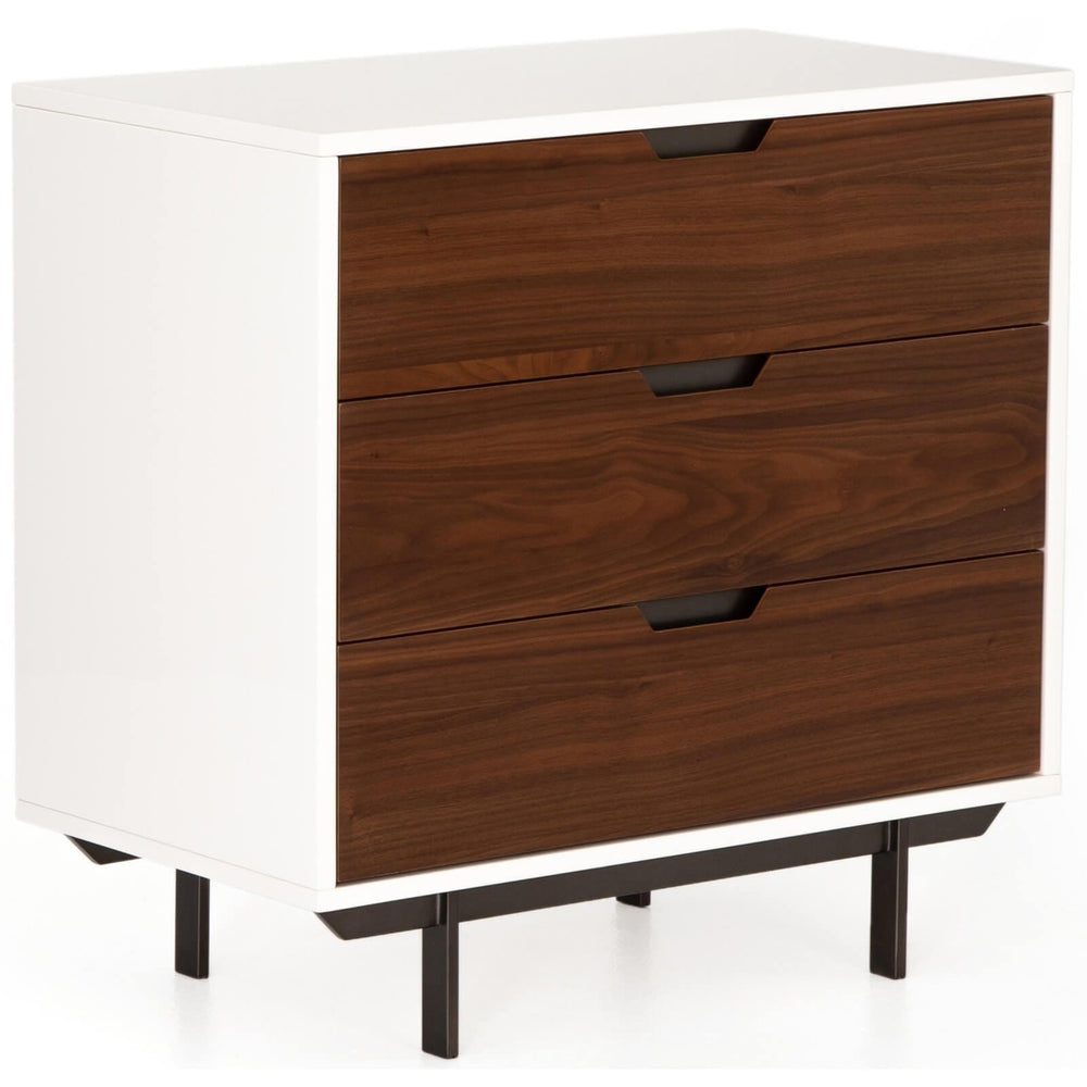 Tucker 3 Drawer Nightstand, White - Furniture - Bedroom - High Fashion Home
