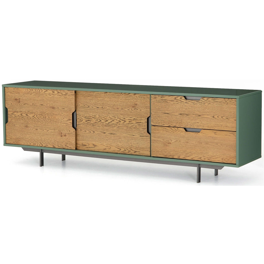 Tucker Large Media Console, Sage