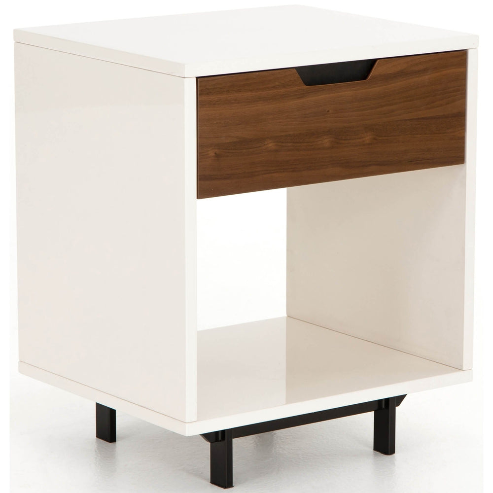Tucker Nightstand, White - Furniture - Bedroom - High Fashion Home
