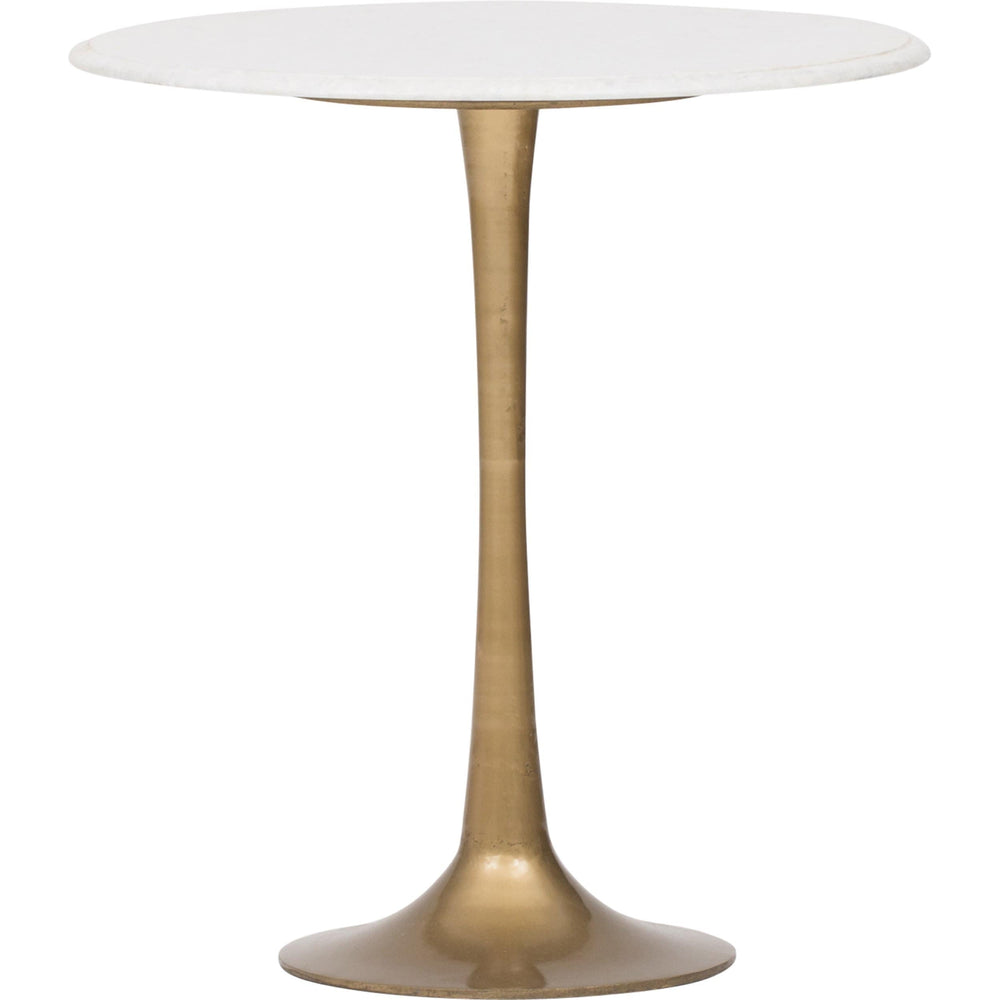 Tulip Side Table, White Marble - Furniture - Accent Tables - High Fashion Home