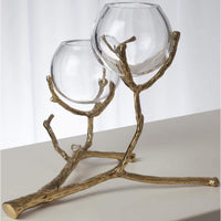 Twig 2 Vase Holder, Brass