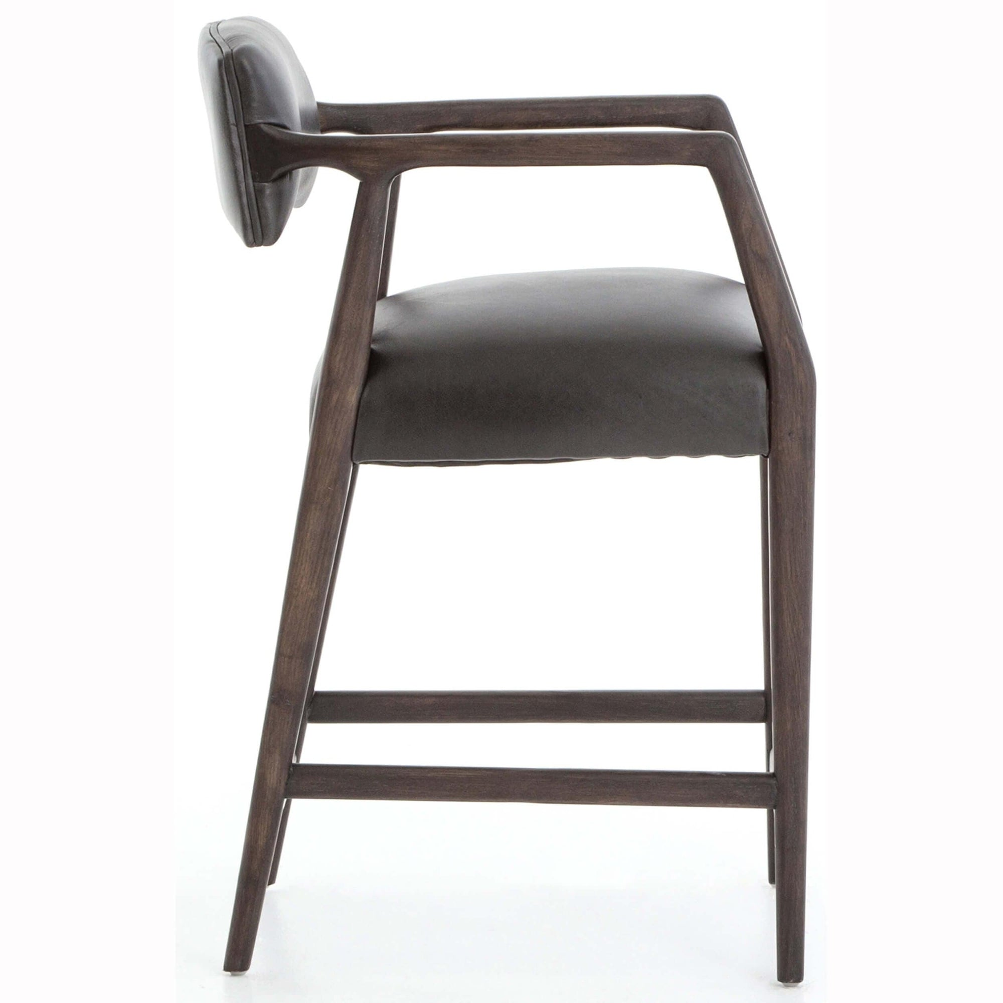 Miraculous Tyler Leather Counter Stool Chaps Ebony High Fashion Home Caraccident5 Cool Chair Designs And Ideas Caraccident5Info