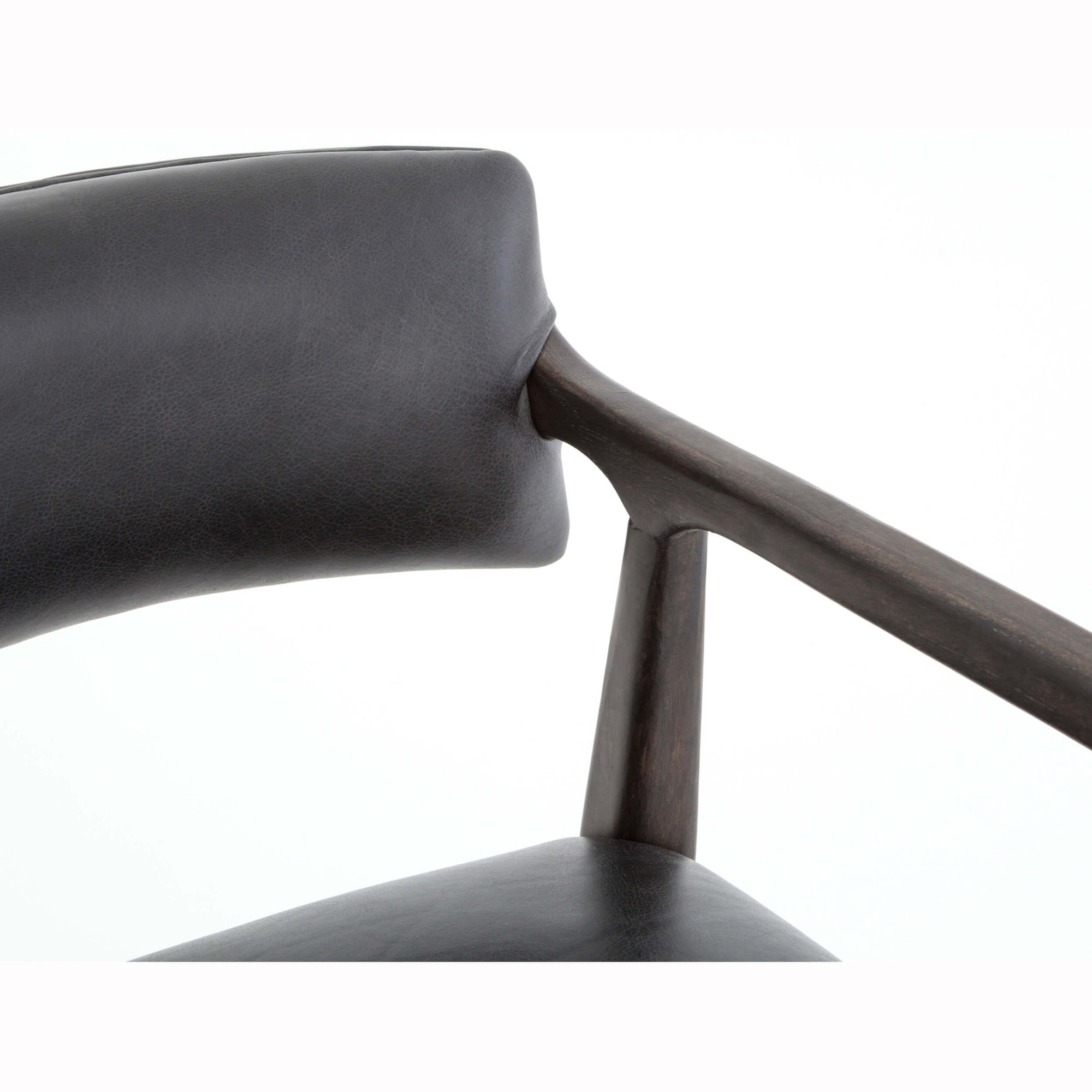 Tremendous Tyler Leather Counter Stool Chaps Ebony High Fashion Home Caraccident5 Cool Chair Designs And Ideas Caraccident5Info